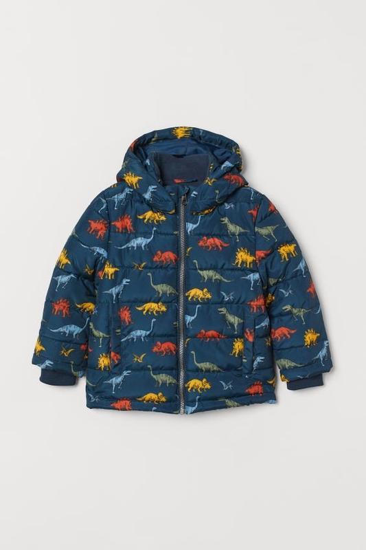 Куртка на мальчика демисезон-еврозима h&m динозавры - Фото 2
