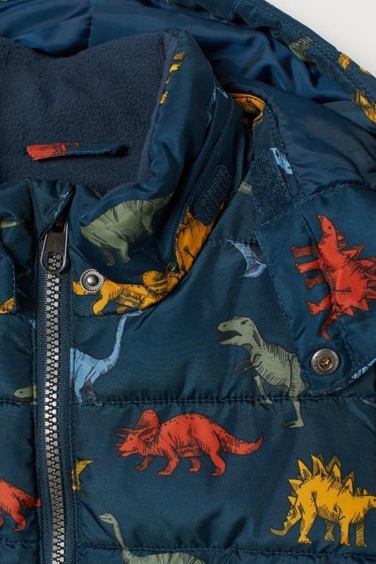Куртка на мальчика демисезон-еврозима h&m динозавры - Фото 3