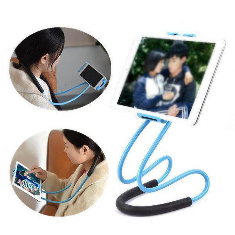 Держатель для телефона на шею 360 градусов вращения гибкий сел...