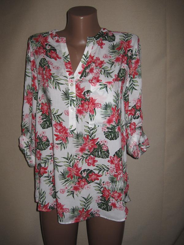 Вискозная блуза примарк р-р14