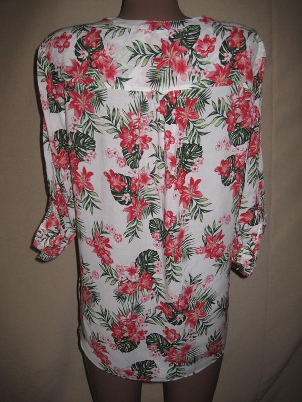 Вискозная блуза примарк р-р14 - Фото 2
