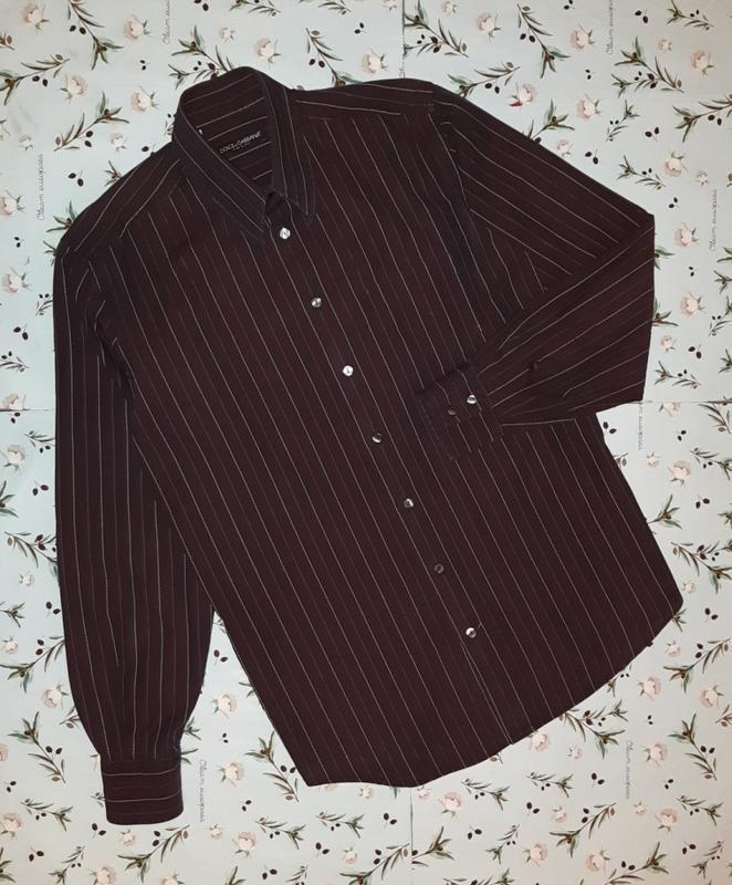 🎁1+1=3 шикарная темная мужская приталенная рубашка dolce&gabba... - Фото 3