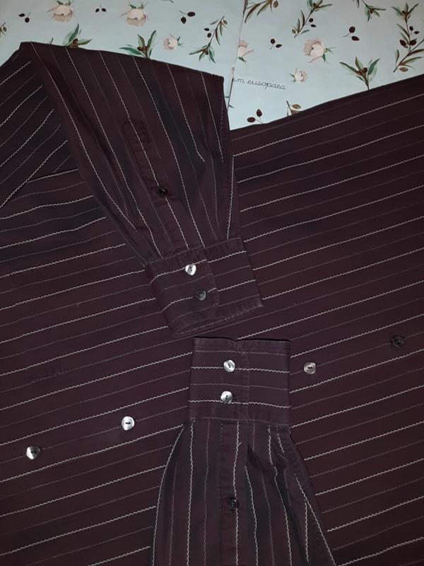🎁1+1=3 шикарная темная мужская приталенная рубашка dolce&gabba... - Фото 6