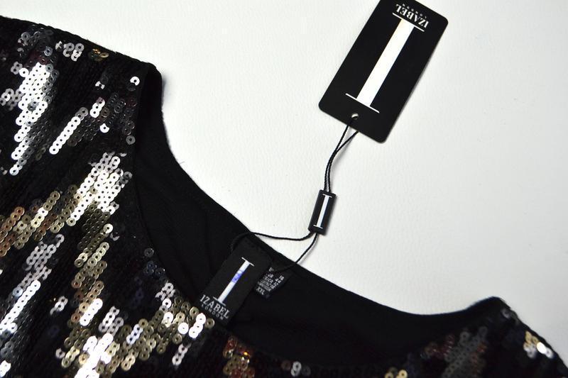 Роскошное платье из пайеток в принт елочка - Фото 6