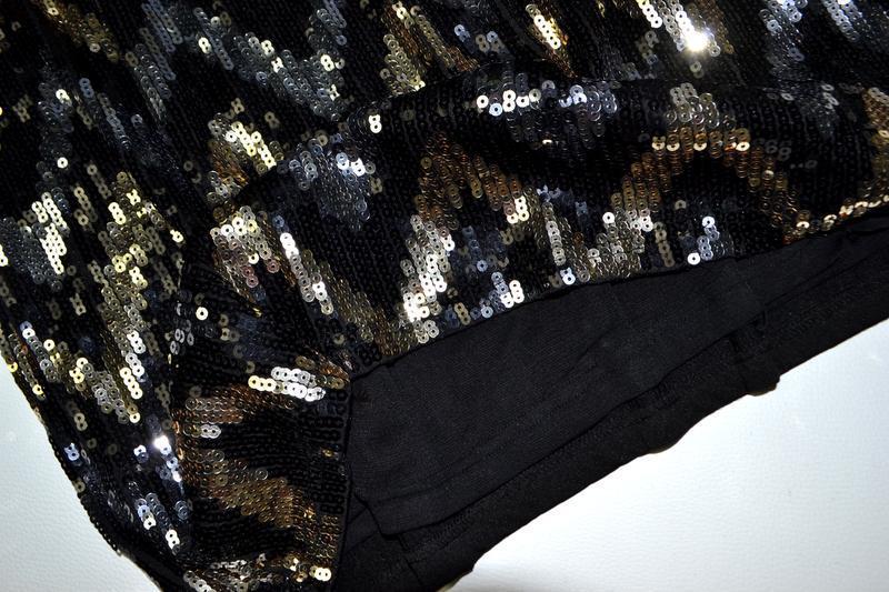 Роскошное платье из пайеток в принт елочка - Фото 7