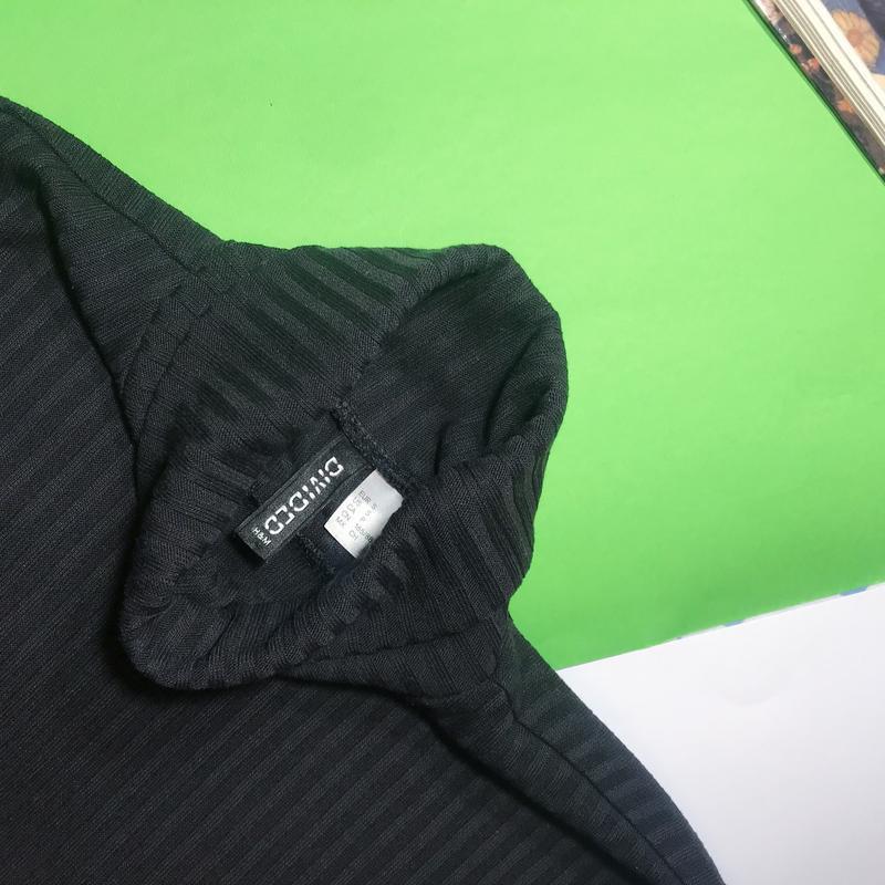 🔻🔻🔻 крутой новый чёрный гольф водолазка divided h&m в рубчик - Фото 5