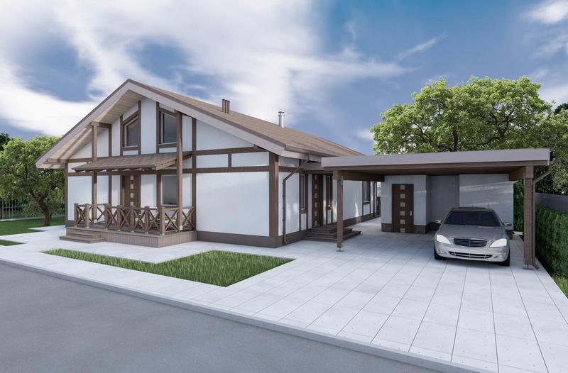 Проект дома ( стадия ЭП ) с 3d за 80 грн. м.кв.