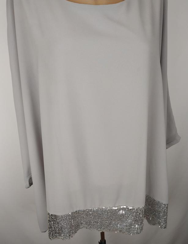 Блуза шикарная итальянская украшена паетками - Фото 3