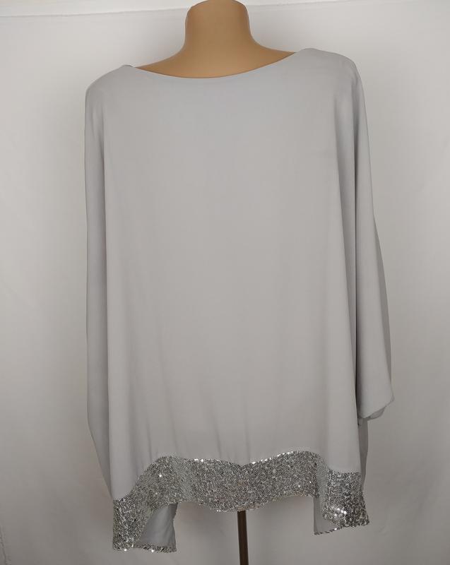 Блуза шикарная итальянская украшена паетками - Фото 4