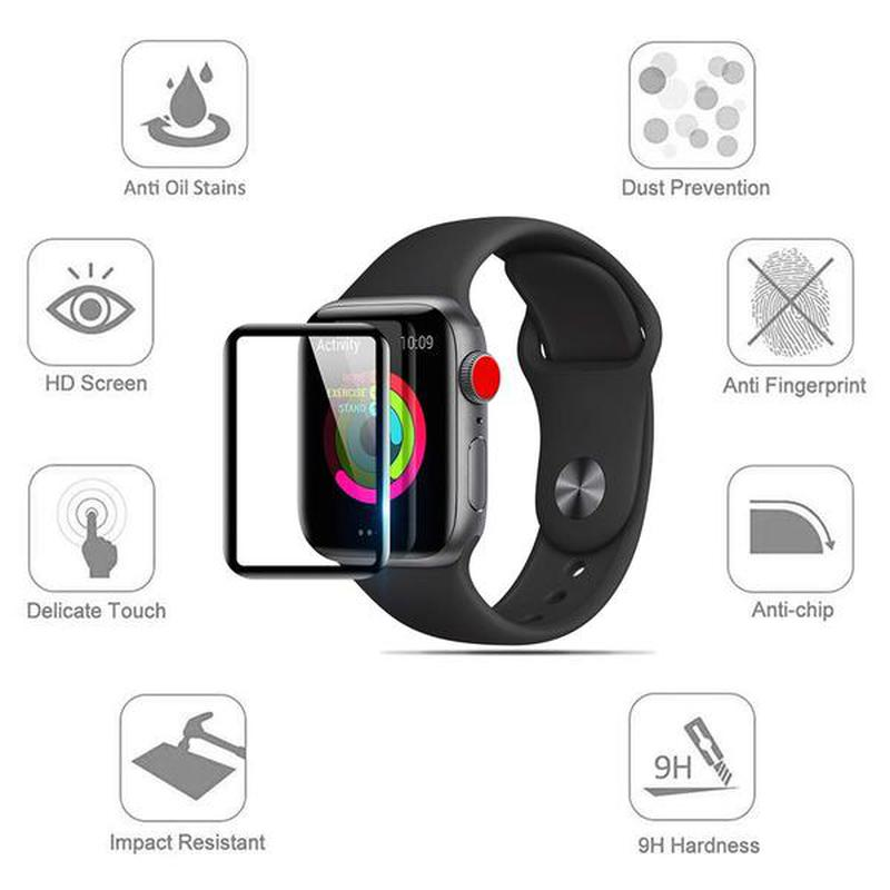 5D Стекло Mocolo для Apple Watch iWatch 38 42 40 44 mm Full Glue - Фото 3