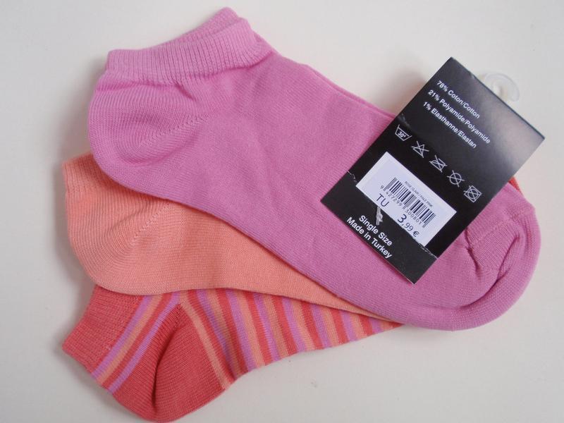 Набор носков 3 пары - низкие носки бренд jennyfer - Фото 2