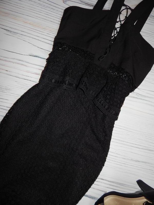 🌿невероятное, кружевное платье миди с рюшами от prettylittleth... - Фото 6