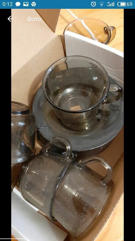 Набор кофейных чашек с блюдцами франция