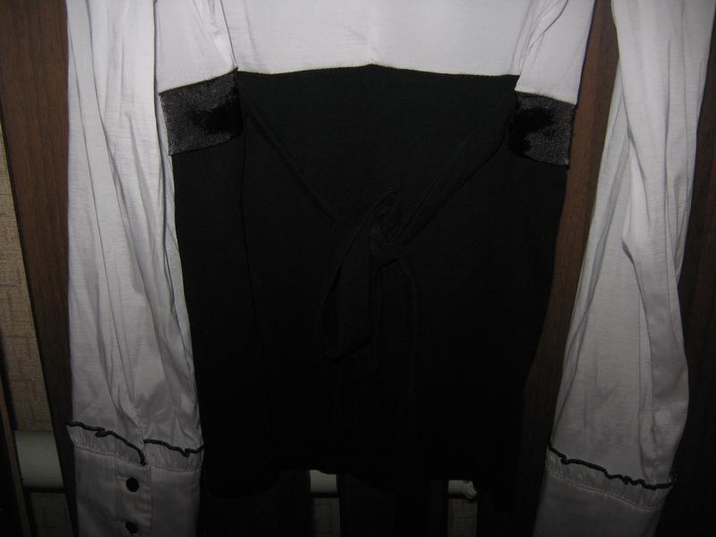 Оригинальная нарядная блузка/блуза/рубашка с длинным рукавом - Фото 2