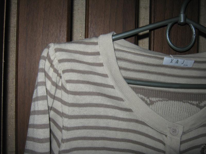 Модная кофточка в полоску с мишками/со стразиками - Фото 3