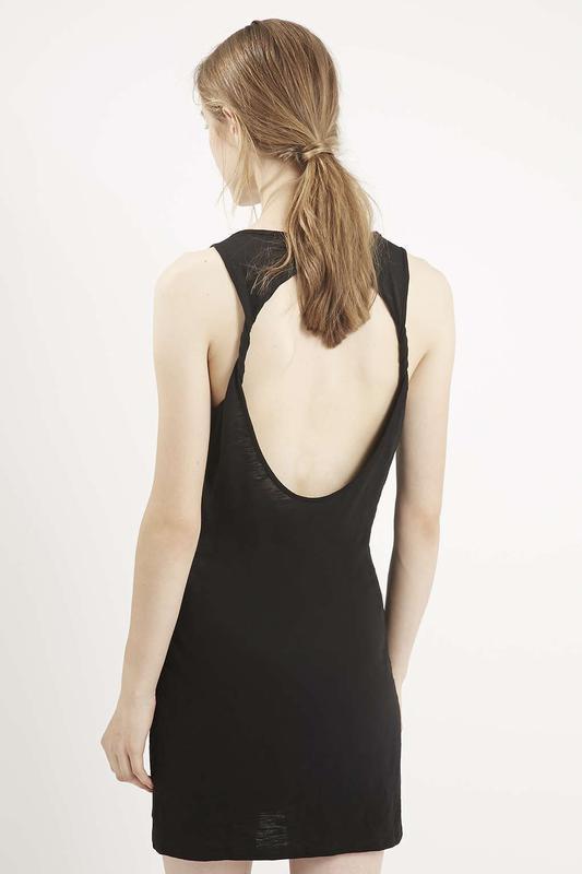 Черное фестивальное платье с бахромой от topshop - Фото 2