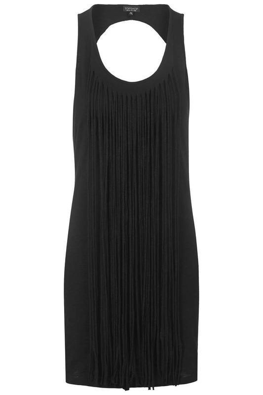 Черное фестивальное платье с бахромой от topshop - Фото 5