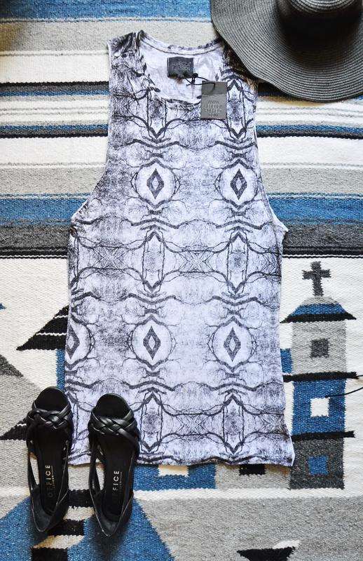 Крутаяудлиненная майка с широкой проймой рукава лен rebecca po...