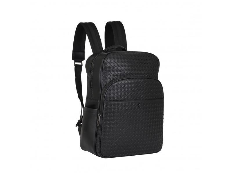 Мужской кожаный рюкзак стильный casual анатомическая дышащая с...