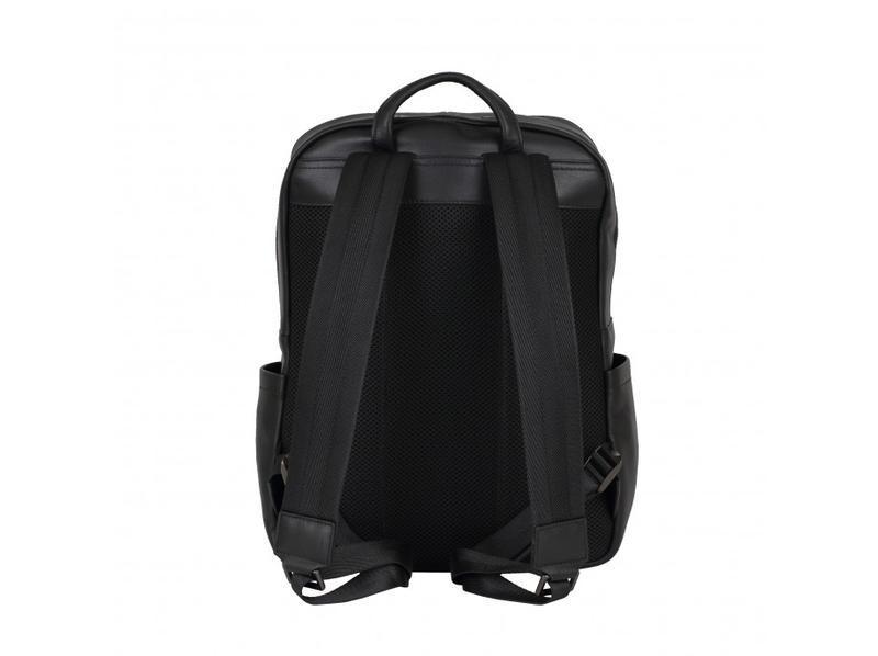 Мужской кожаный рюкзак стильный casual анатомическая дышащая с... - Фото 2