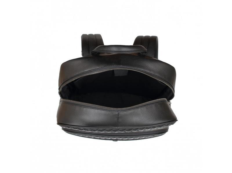 Мужской кожаный рюкзак стильный casual анатомическая дышащая с... - Фото 6