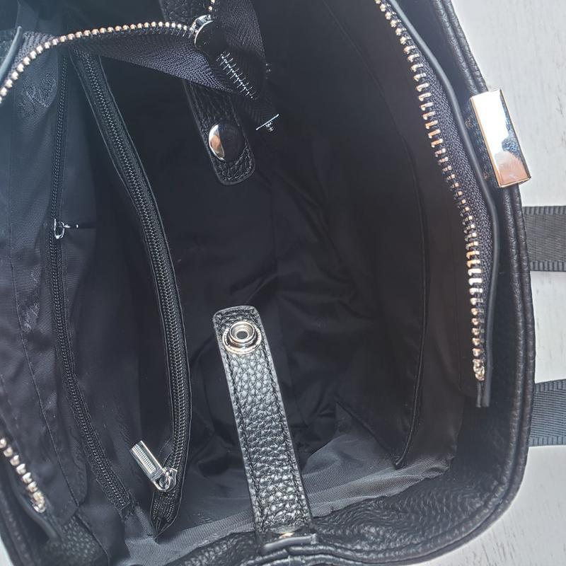 Женская кожана сумка farfalla rosso с широким ремешком жіноча ... - Фото 8