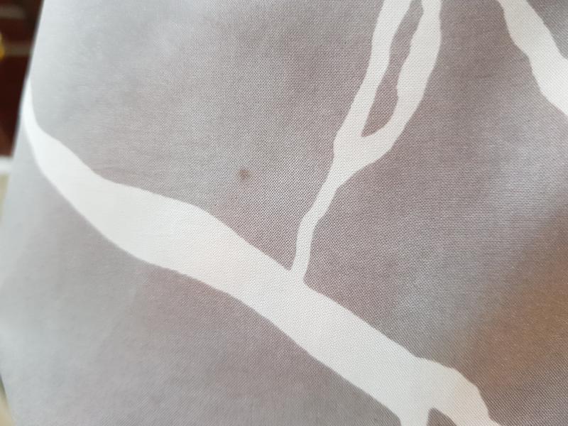 Шелковый серый платок косынка шарф натуральный шелк - Фото 7