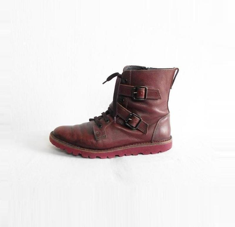 Осенние  кожаные ботинки bata - Фото 2