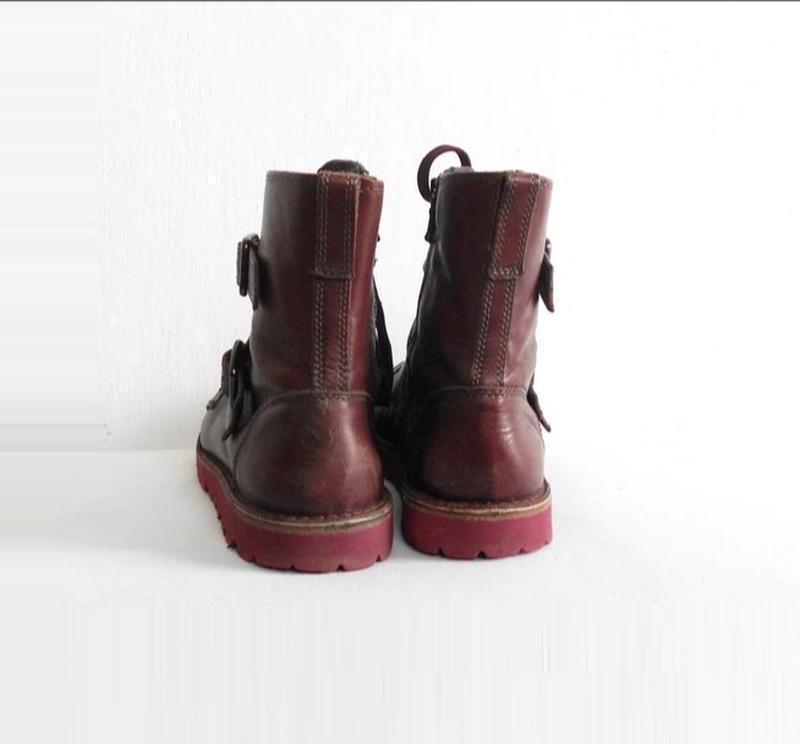 Осенние  кожаные ботинки bata - Фото 4