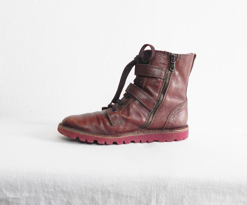 Осенние  кожаные ботинки bata - Фото 8