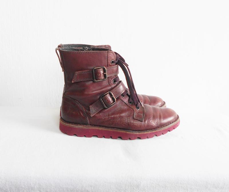 Осенние  кожаные ботинки bata - Фото 9