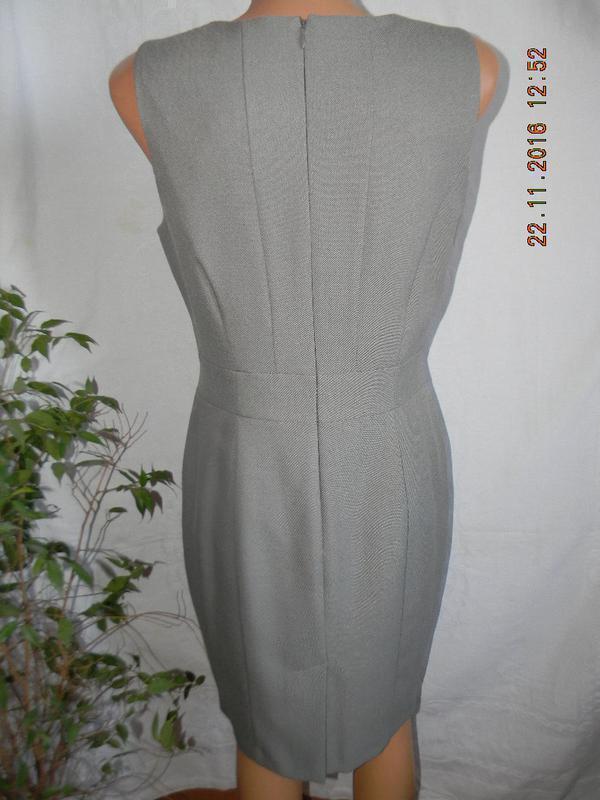 Классическое серое платье atmosphere - Фото 2
