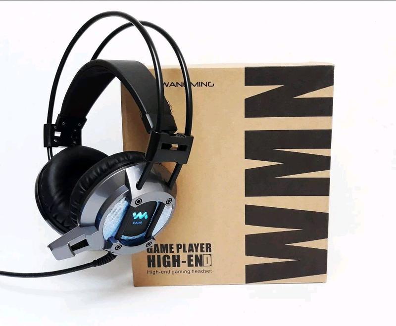 Наушники геймерские со светодиодной подсветкой WangMing WM-9600