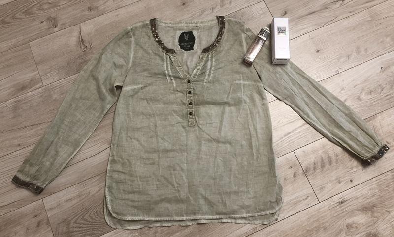 Шикарная блуза натуральная ткань паетки s.oliver размер с-м