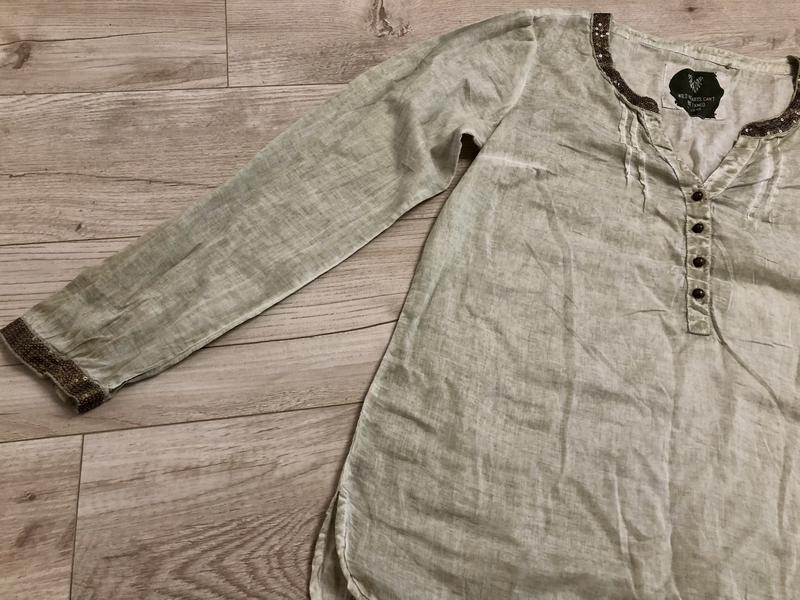 Шикарная блуза натуральная ткань паетки s.oliver размер с-м - Фото 2