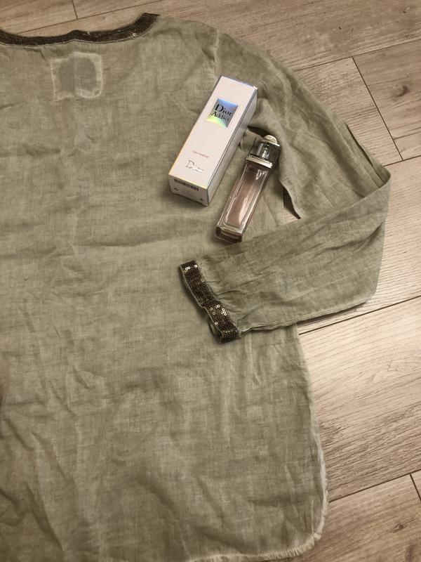 Шикарная блуза натуральная ткань паетки s.oliver размер с-м - Фото 3