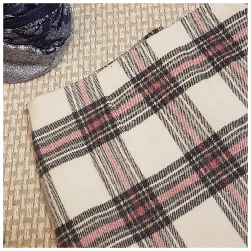 Теплая юбка new look/клетка/мини юбка/шерсть - Фото 2