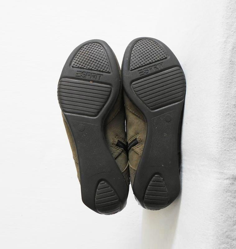 Замшевые кожаные осенние высокие спортивные  ботинки - Фото 4
