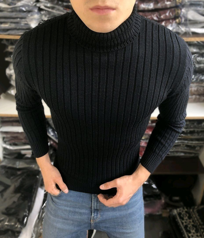 Мужской классический свитер 4 цвета - Фото 4