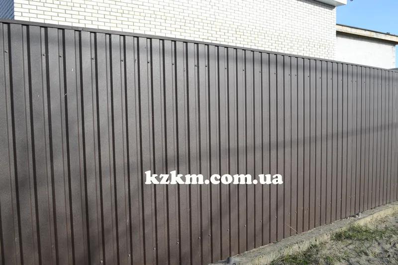 Профнастил  двухсторонний матовый темно-коричневый RAL 8019 купит - Фото 2