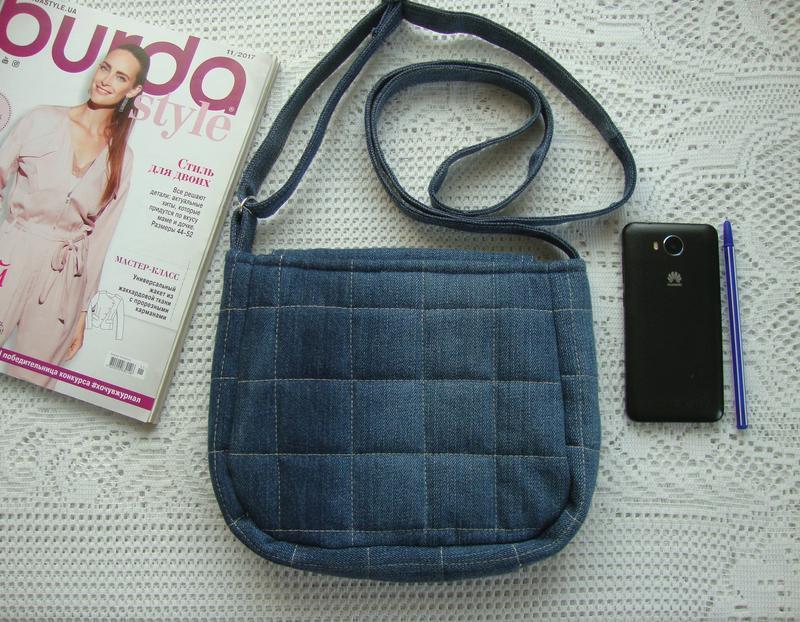 Джинсовая сумка через плечо маленькая - Фото 6