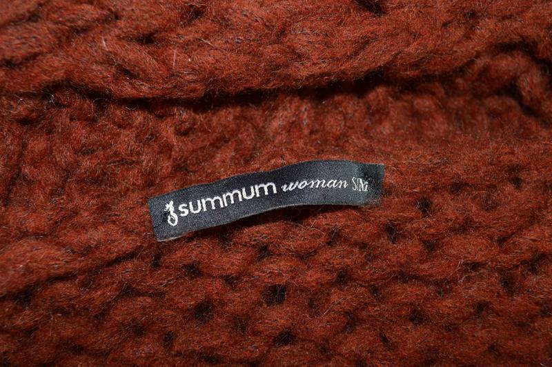 Брендовый коричневый вязаный теплый кардиган накидка summum ит... - Фото 4