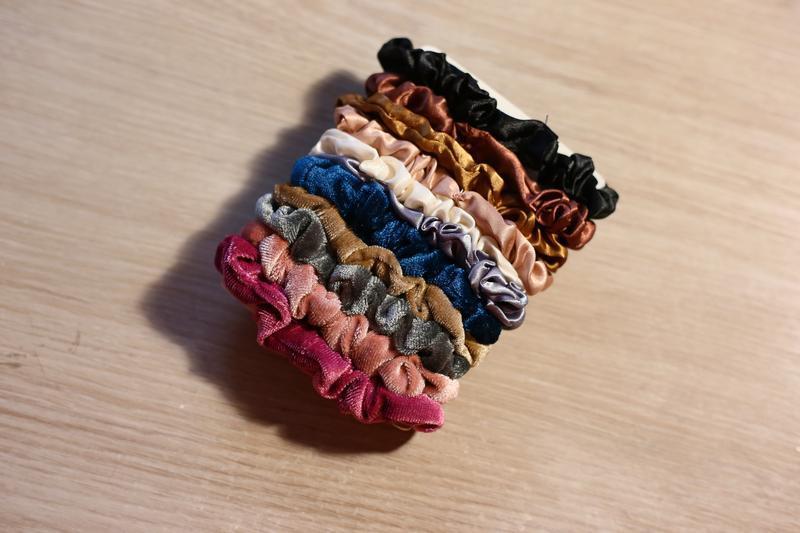 Резинки велюровые атласные для волос - Фото 2