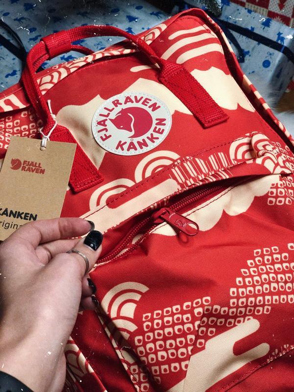 Рюкзак fjallraven kanken фьялравен fjällräven красный/молочный - Фото 3