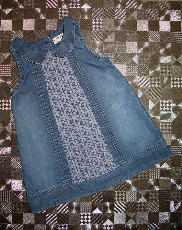 Крутой джинсовый сарафан платье для маленькой модницы next 6-1...