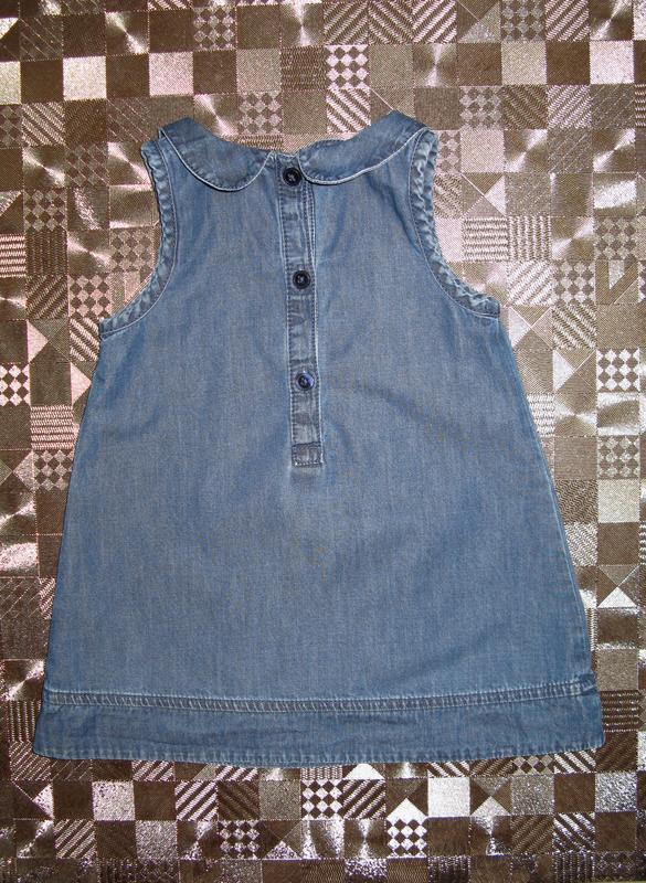 Крутой джинсовый сарафан платье для маленькой модницы next 6-1... - Фото 3