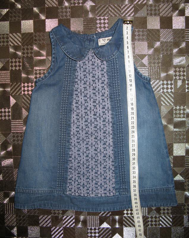Крутой джинсовый сарафан платье для маленькой модницы next 6-1... - Фото 4