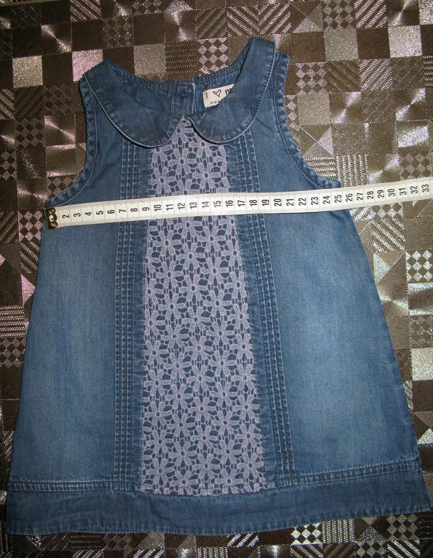 Крутой джинсовый сарафан платье для маленькой модницы next 6-1... - Фото 5