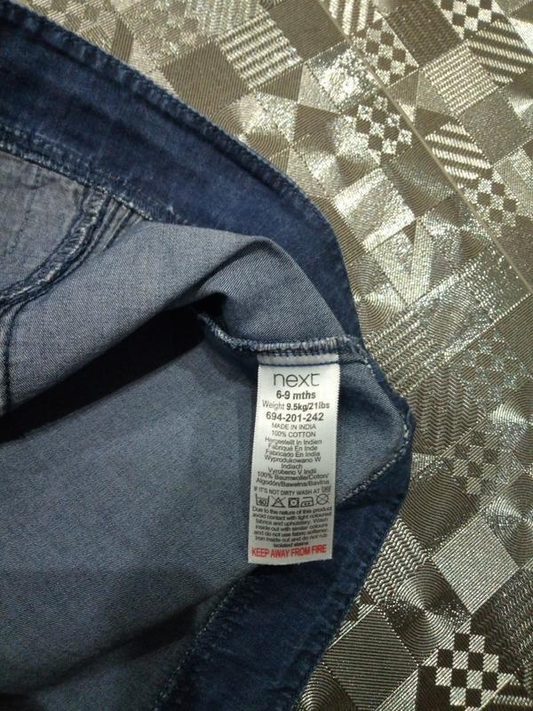 Крутой джинсовый сарафан платье для маленькой модницы next 6-1... - Фото 6