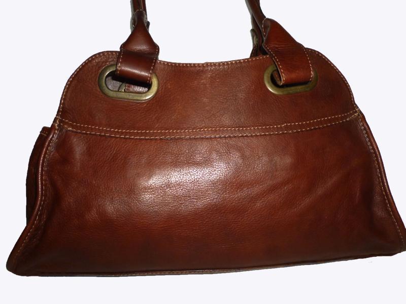 Стильная сумка натуральная кожа firenze италия - Фото 2